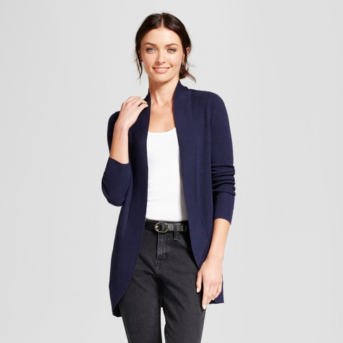 Women s Cocoon Cardigan - A New Day™ Navy XL   Target c19cbcca4