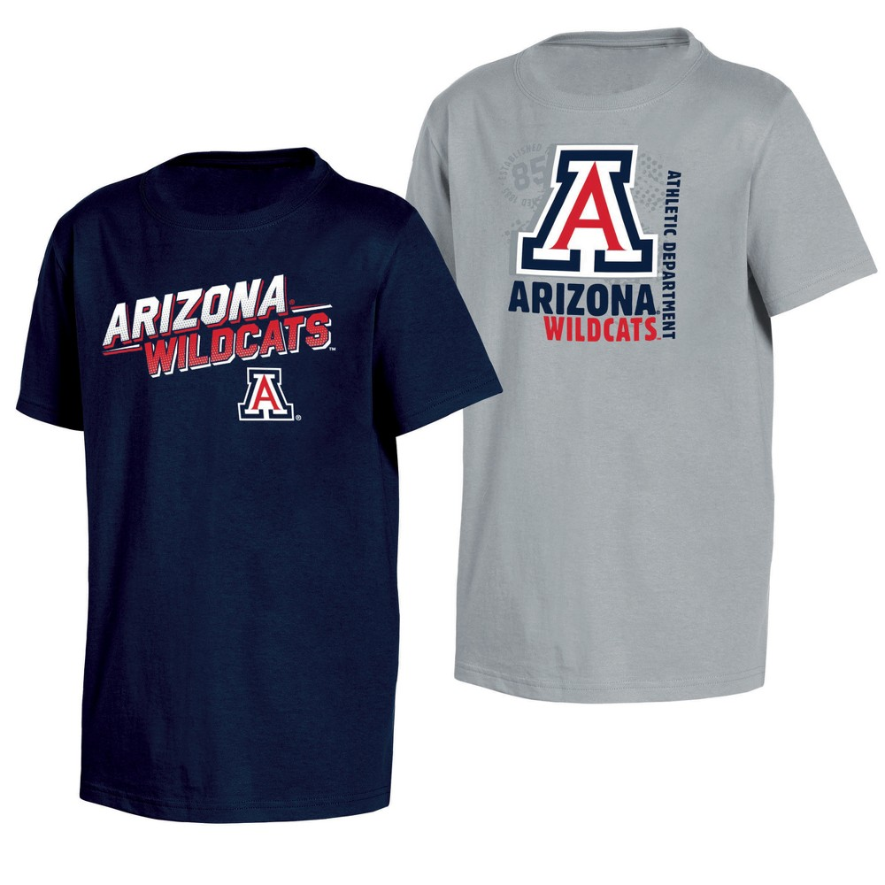 Arizona Wildcats Double Trouble Toddler Short Sleeve 2pk T-Shirts 2T, Toddler Boy's, Multicolored