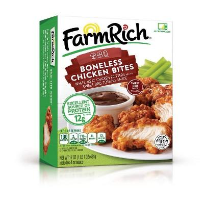 Farm Rich Frozen Boneless BBQ Chicken Bites - 17oz
