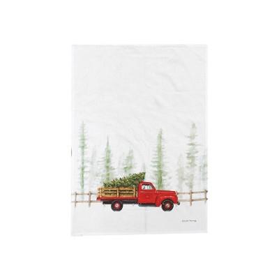 C&F Home Holiday Truck Cruiser Kitchen Flour Sack Dishtowel