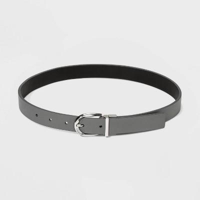 Women's Reversible Belt - A New Day™ Gray/Black XS