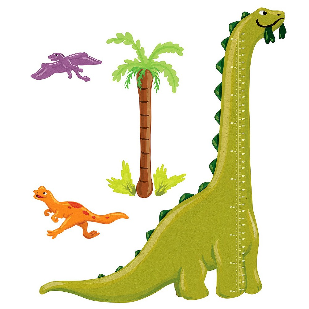 Wallies Dino Growth Chart, Green