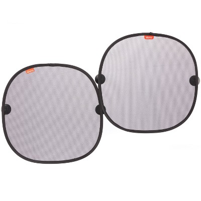Diono Sun Stoppers Car Window Shades2pk Car Sunshade for Side Window with Suction Cups - Black