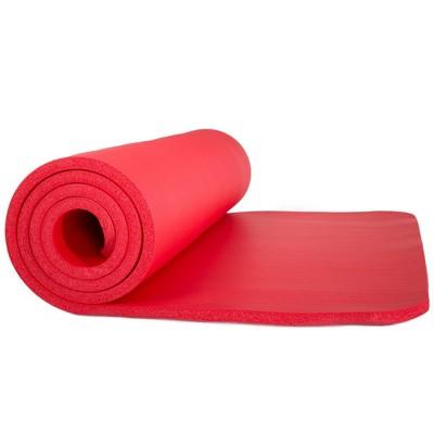 Wakeman Non-Slip Luxury Foam Twin Size Camping Sleep Mat - Red