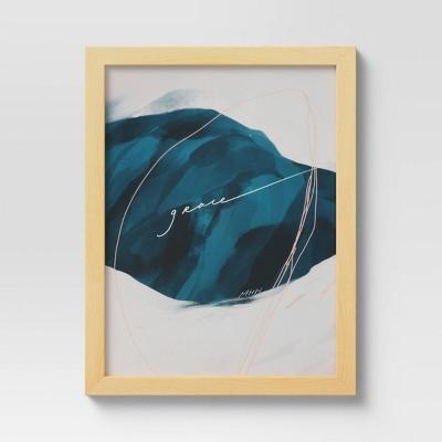 """10"""" x 13"""" Framed Wall Art Canvas by Morgan Harper Nichols Blue"""