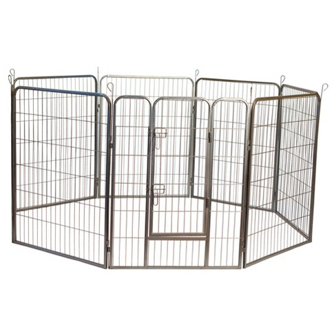 Heavy Duty Metal Tube Pen Pet Dog Exercise and Training Playpen - image 1 of 4