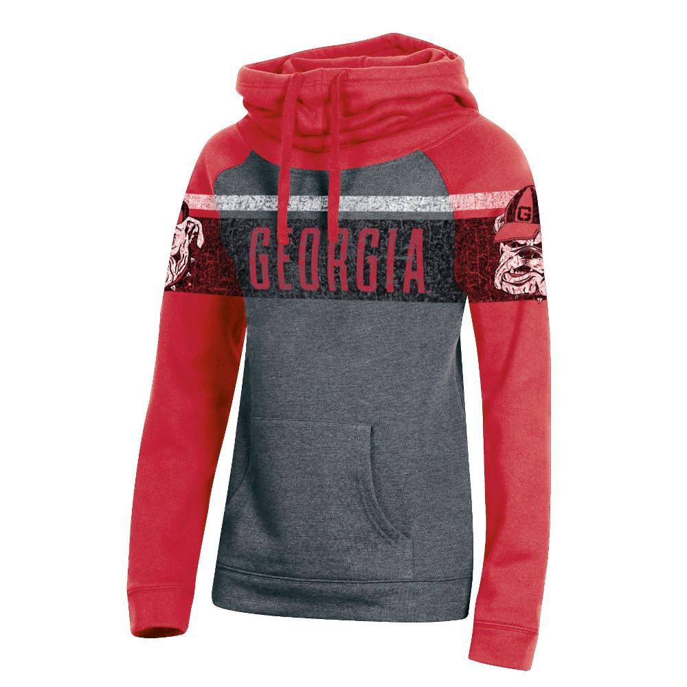 Georgia Bulldogs Women's Cowl Neck Hoodie - M, Multicolored