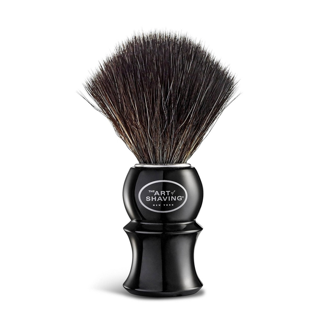 The Black Shaving Brush is an essential key to achieving The Perfect Shave. It generates a rich warm lather by retaining warm water to help soften the beard hair. Using a shaving brush to apply your shaving cream helps lift beard hair for a clean, close shave. A shaving brush also exfoliates skin to help release trapped hairs, assisting in the prevention of ingrown hairs. Gender: 0482Men. Age Group: adult.