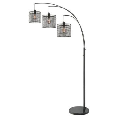 Hamilton 3 Light Arch Lamp Black (Includes Light Bulb) - Lite Source