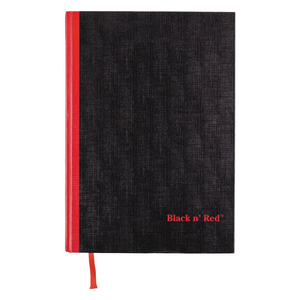 Image of Black n' Red 8-1/4 x 11-3/4 Casebound Composition Notebook, Ruled- White (96 Sheets per Pad)