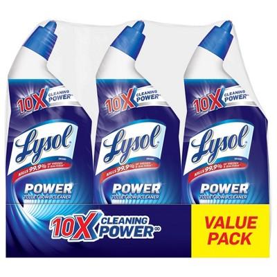 Lysol Toilet Bowl Cleaner - Power Triple Pack - 72 fl oz/3pk
