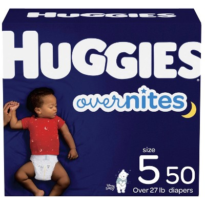 Huggies Overnites Nighttime Diapers Super Pack - Size 5 (50ct)