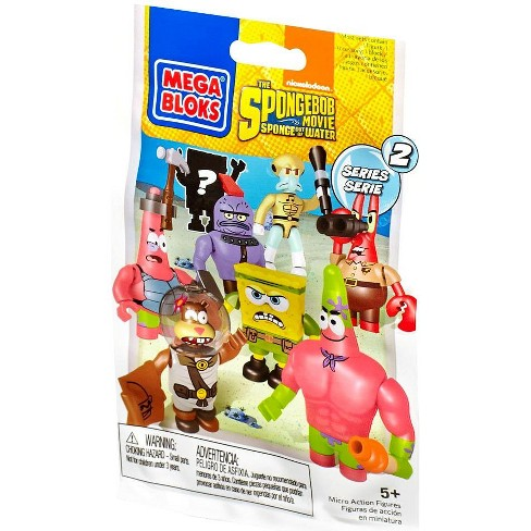 Mega Bloks Spongebob Squarepants Series 5 Blind Bag Mystery Packs 3 Packs