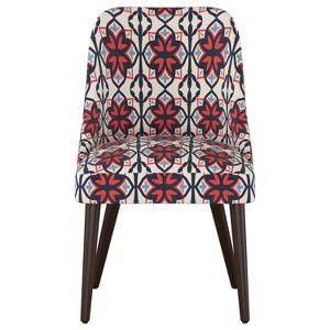 Geller Dining Chair Geo Print Blue - Project 62