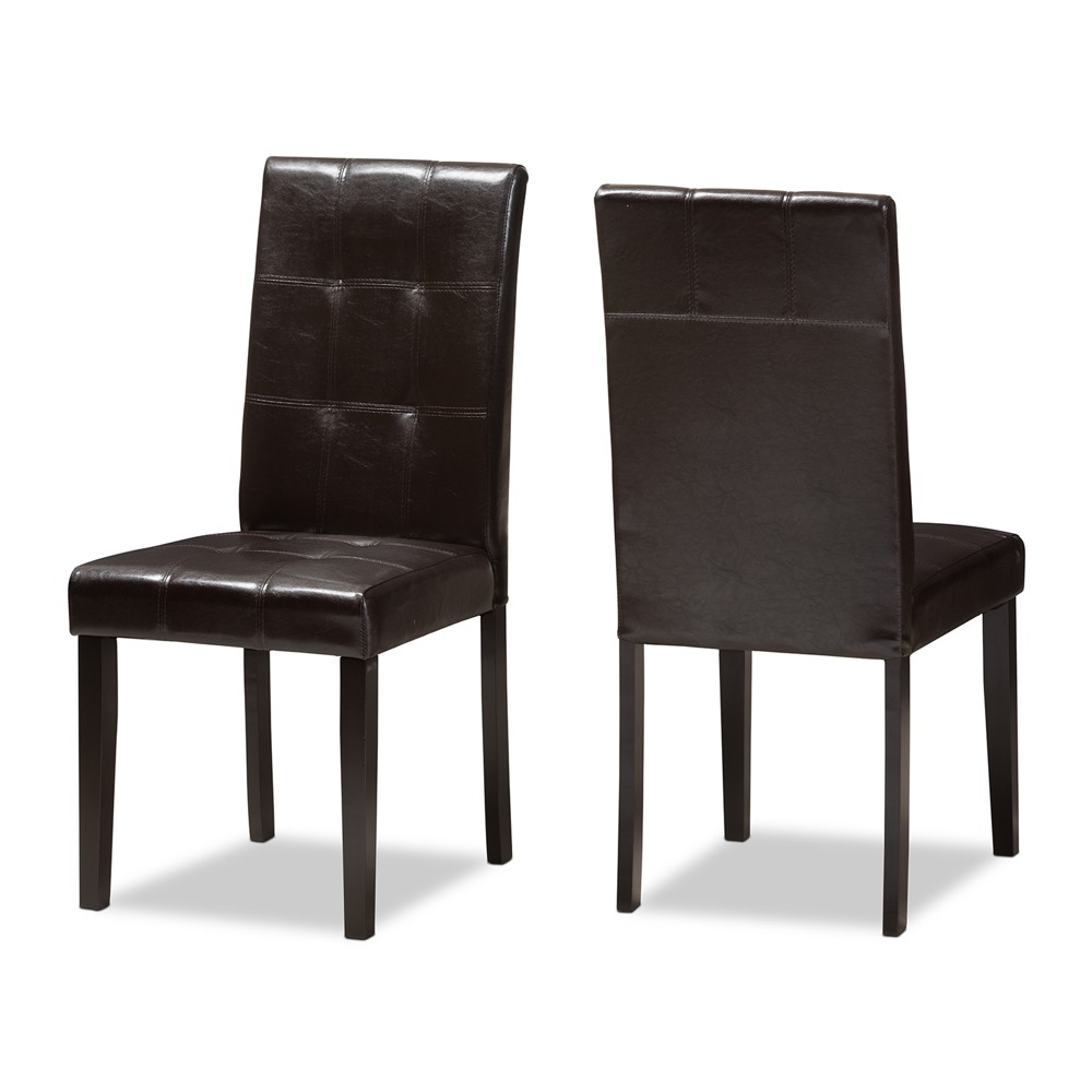 Swell Set Of 2 Avery Modern And Contemporary Faux Leather Evergreenethics Interior Chair Design Evergreenethicsorg