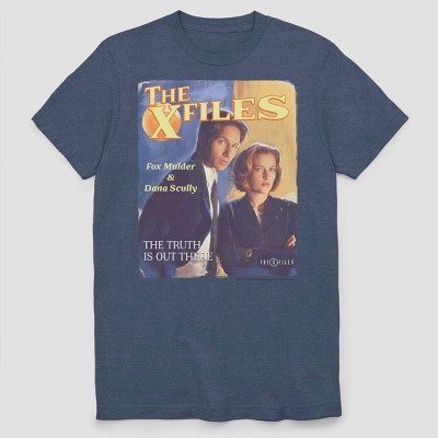 Men's FOX X Files Pulp Short Sleeve Graphic Crewneck T-Shirt - Navy