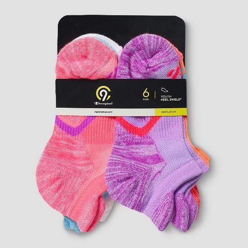 cf314ce98d8 Girls  6pk Heel Shield Socks - C9 Champion®   Target