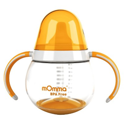 mOmma Spill-Proof Sippy Cup with Dual Handles - Orange