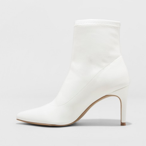 e5a21c8b66 Women's Cady Stiletto Sock Booties - A New Day™ White 8 : Target