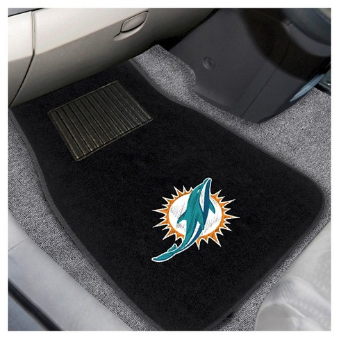 Sensational Nfl Fan Mats 2Pc Embroidered Car Mat Set Miami Dolphins Pabps2019 Chair Design Images Pabps2019Com