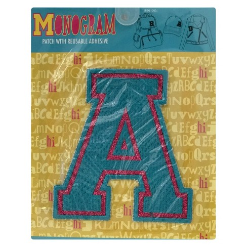 Fashion Assorted Letters A Patch With Reusable Adhesive - image 1 of 1