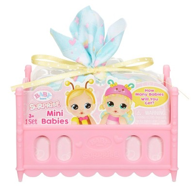 Baby Born Surprise Mini Babies – Unwrap Surprise Twins or Triplets Collectible Baby Dolls