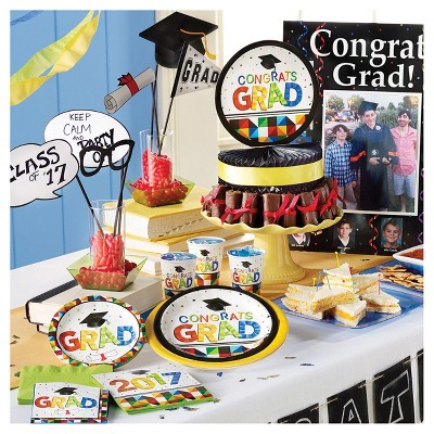 Graduation Fractal Fun Party Supplies Collection