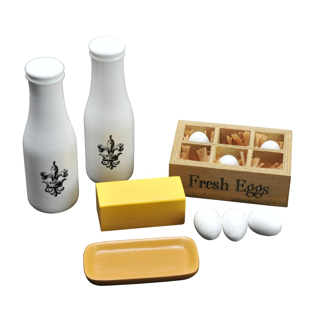 The Queen S Treasures Vintage Kitchen Food Accessory With Milk Butter Dish Fresh Eggs For 18 Dolls