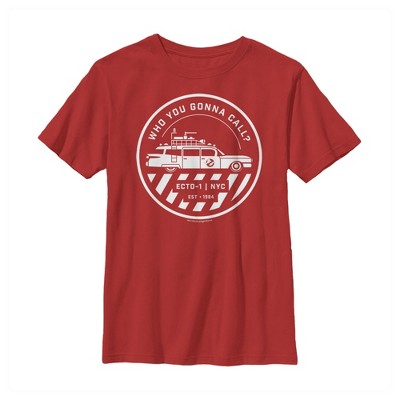 Boy's Ghostbusters Ecto-1 Wagon Logo T-Shirt