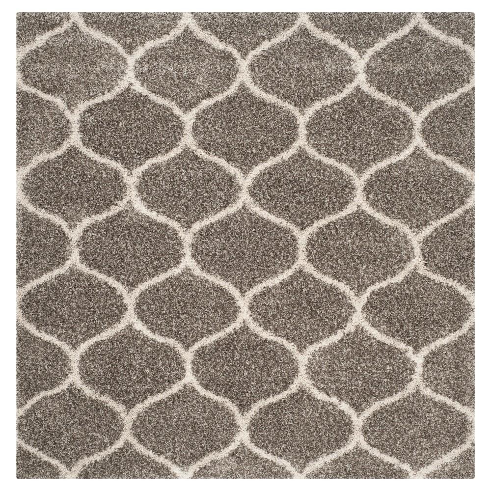 Hudson Shag Rug - Gray/Ivory - (9'X9' Square) - Safavieh