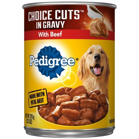 Pedigree Choice Cuts In Gravy with Beef Wet Dog Food - 13.2oz - image 1 of 4