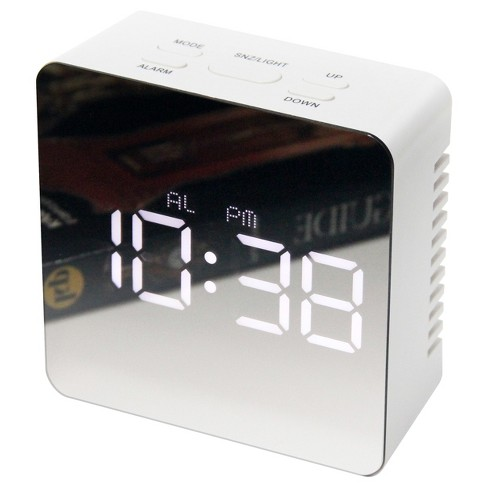 Infinity Instruments Mirrored Alarm With Thermometer- Square - image 1 of 3