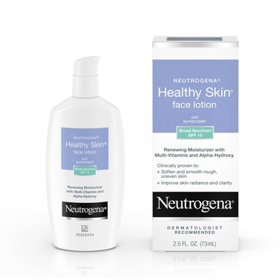 Facial Moisturizer: Neutrogena Healthy Skin Face Lotion