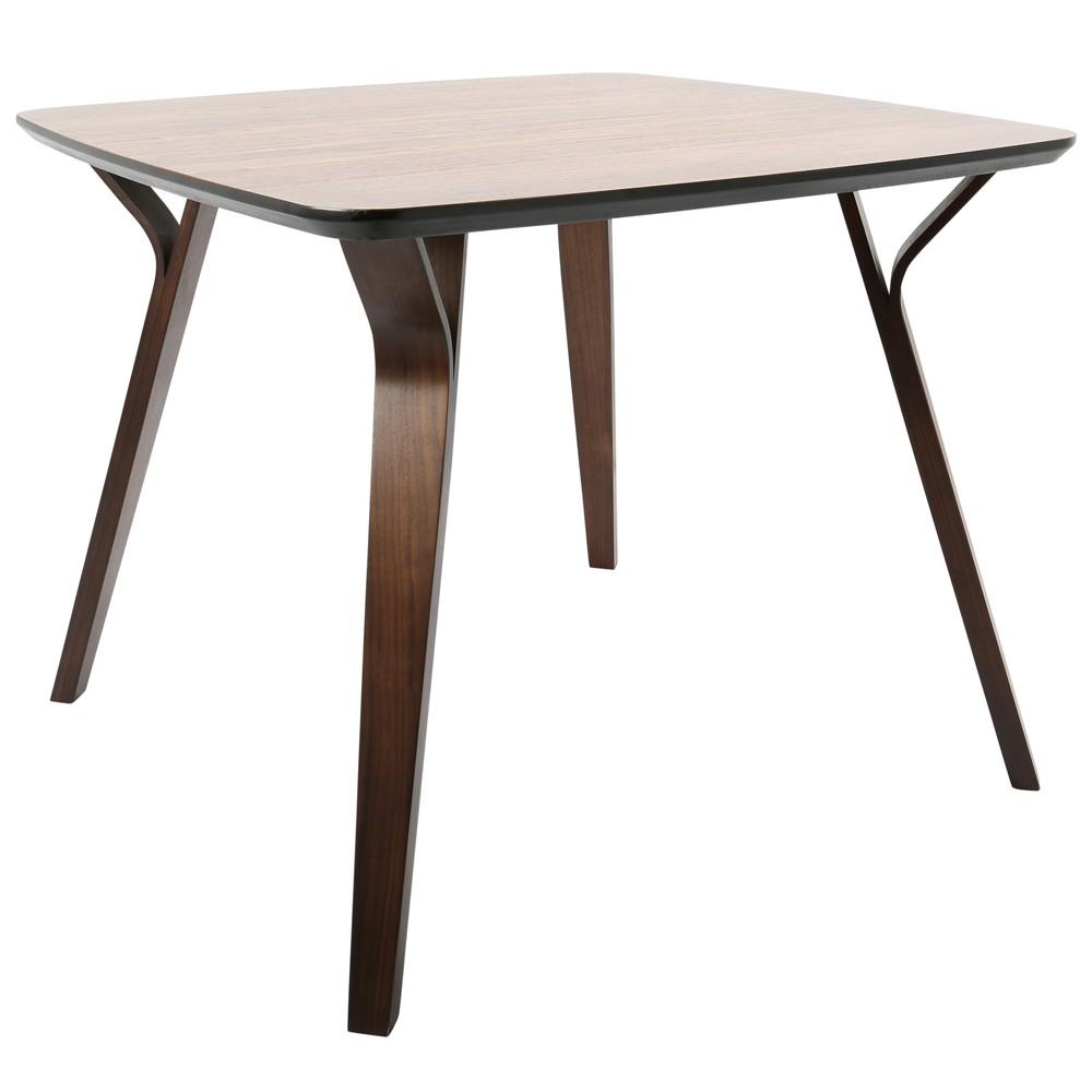 Lumisource Folia Mid Century Modern Dining Table Walnut (Brown)
