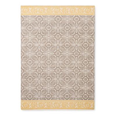 5'X7' Khaki Floral Woven Area Rug - Threshold™