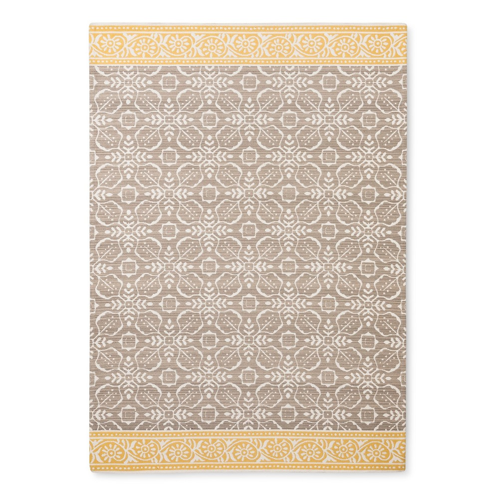 5'X7' Khaki Floral Woven Area Rug - Threshold was $99.99 now $49.99 (50.0% off)