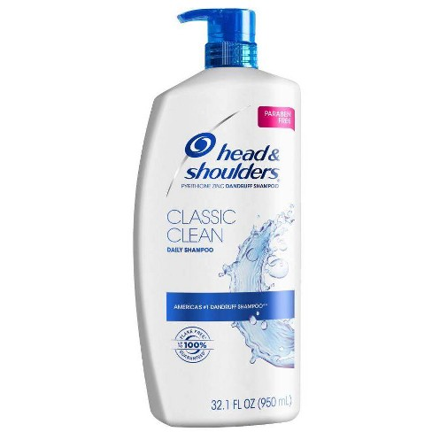 Head and Shoulders Classic Clean Daily-Use Anti-Dandruff Paraben Free Shampoo - 32.1 fl oz - image 1 of 4
