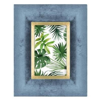 4  x 6  Velvet Wrapped Tabletop Frame Blue - Opalhouse™