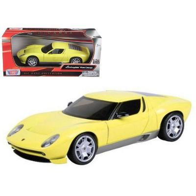 Lamborghini Miura Concept Yellow 1 24 Diecast Car Model By Motormax