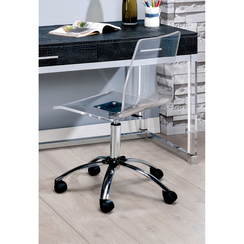 Jacques Modern Office Chair Clear - Homes: Inside + Out, Medium Clear