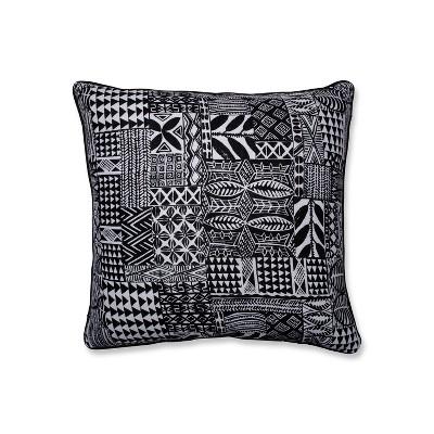 Imani Oversize Square Throw Pillow Black - Pillow Perfect