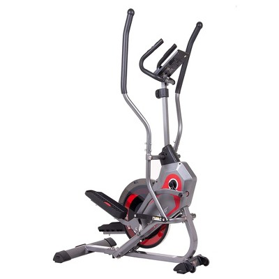 Body Flex Sports Body Power BST800 Stationary 2 In 1 Full Body Elliptical StepTrac Cardio Workout Machine with Curve Crank Technology