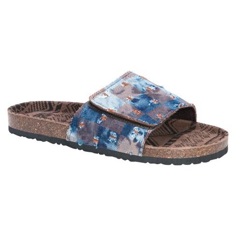 6aaf8b542 Men s MUK LUKS® Jackson Slide Sandals - Blue 9   Target
