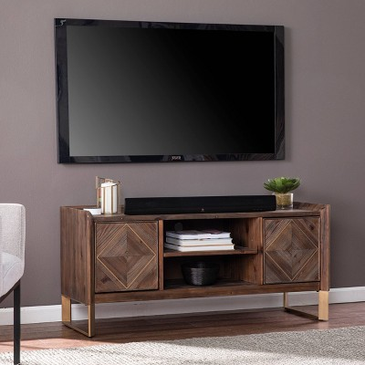 "Glacerad Reclaimed Wood Media Console for TVs upto 50"" Brown - Aiden Lane"