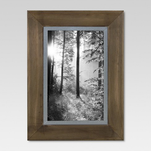 "4"" x 6"" Raw Wood with Metal Edge Frame - Threshold™ - image 1 of 4"