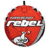 Airhead Rebel 54In 1 Person Red Towable Tube Kit w/ Rope and 12V Pump (2 Pack) - image 4 of 4