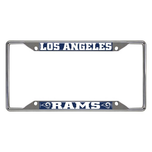 NFL Los Angeles Rams Stainless Steel License Plate Frame - image 1 of 3
