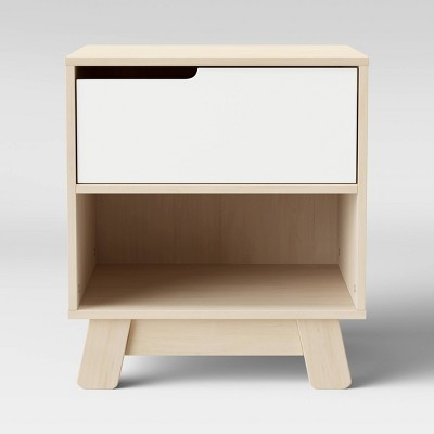 Babyletto Hudson Nightstand With Usb Port - Washed Natural / White
