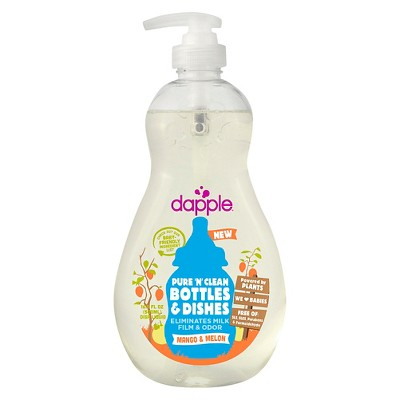 Dapple 16.9oz Mango-Melon Baby Bottle & Dish Liquid