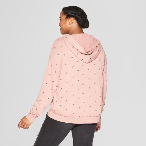 4cea6fa5b08 Women s Mickey Mouse Plus Size Sweatshirt - Junk Food (Juniors ) Pink    Target